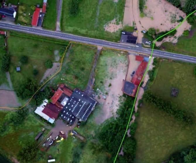 De watermolen is overstroomd, afwaarts van het gecontroleerd overstromingsgebied (GOG) in Herne.