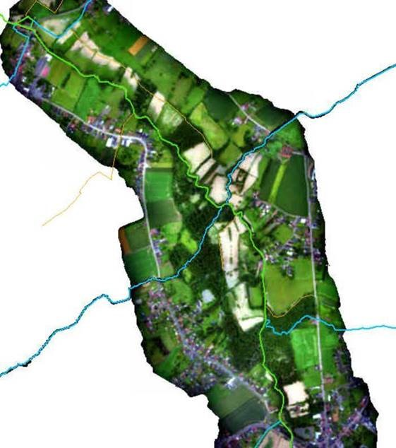 Overzicht van de zone tussen Herne en Galmaarden.
