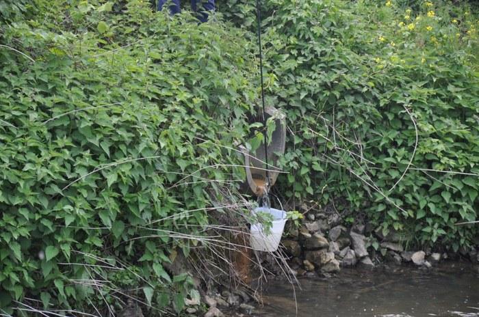 Staalname: met touw en emmer