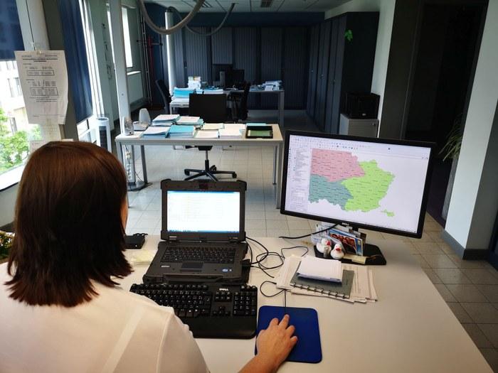 Sabine op kantoor