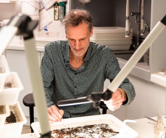 Christophe Maes - triëren in fotobakken