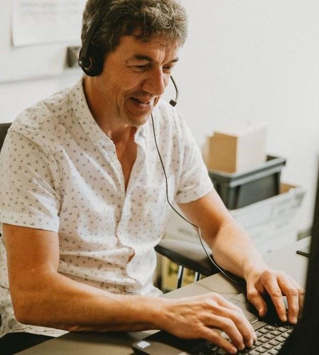 Marc Van Erdeghem (aan het werk)