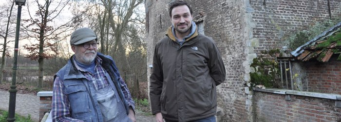 Molenaar Frans Van Hool en gebiedsbeheerder Nick Primus