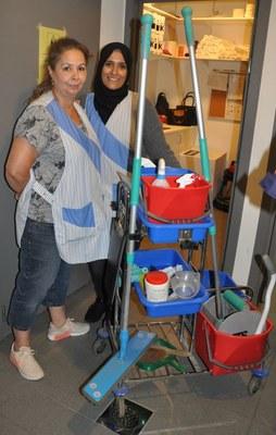Seval & Zahra - schoonmaakpersoneel Hasselt