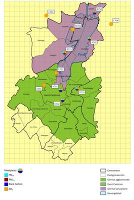 Overzicht op kaart