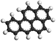 chemische structuur benzo(a)pyreen