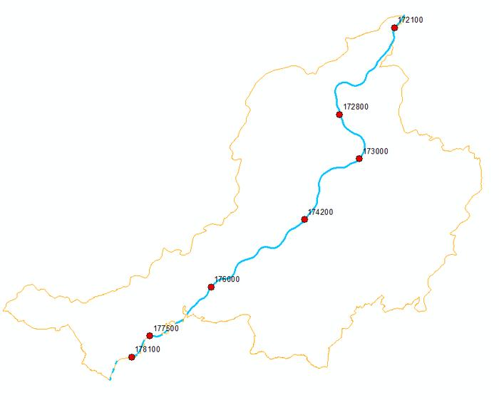 Kaart manuele metingen verontreiniging Boven-Schelde