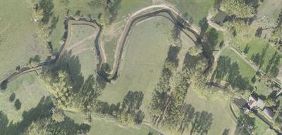 Dronebeeld werken Galmaarden