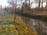 Foto van de oeverwerken aan het Rivierenhof