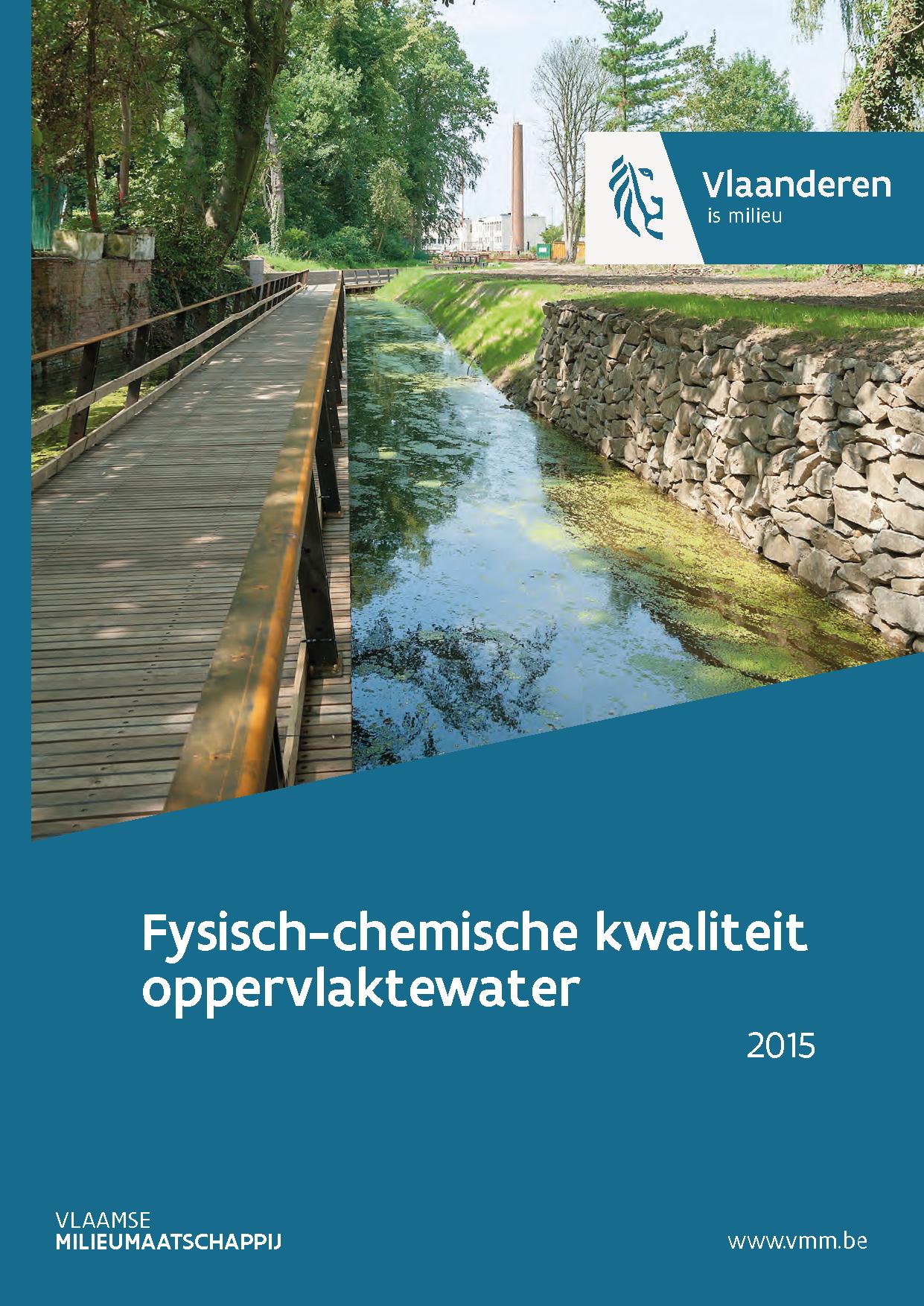 Cover rapport fysisch-chemische kwaliteit waterlopen