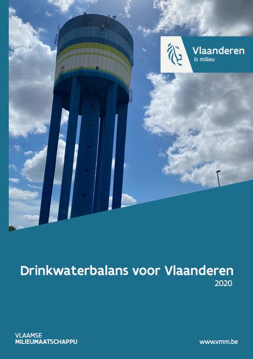 Cover drinkwaterbalans voor Vlaanderen - 2020