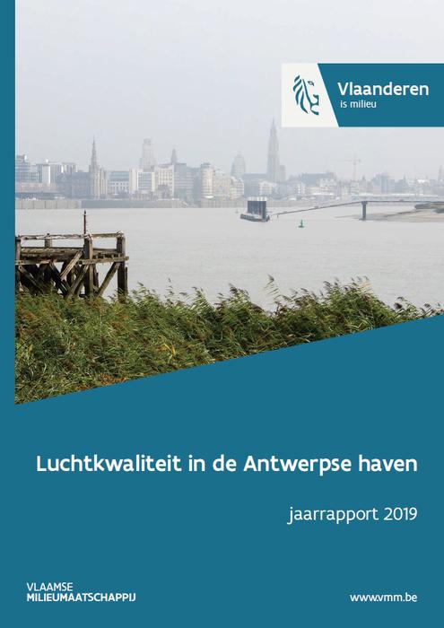 Cover jaarrapport luchtkwaliteit Antwerpe haven 2019