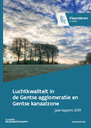 Cover jaarrapport luchtkwaliteit Gentse agglomeratie en Gentse kanaalzone 2019