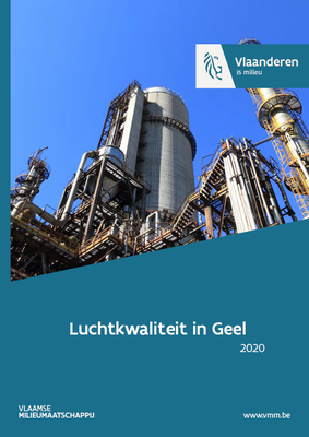 Cover rapport Luchtkwaliteit in Geel 2020