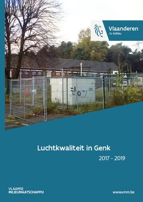 Cover rapport luchtkwaliteit in Genk 2017-2019