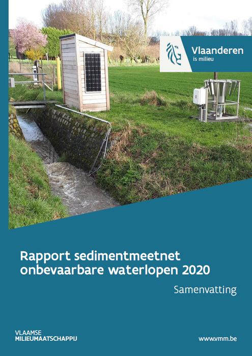 Cover sedimentmeetnet onbevaarbare waterlopen 2020