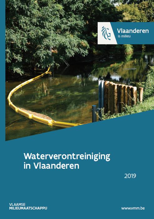 Cover rapport waterverontreiniging in Vlaanderen 2019