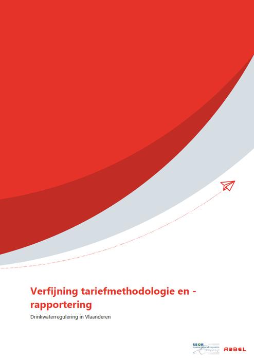 Cover verfijning tariefmethodologie en -rapportering