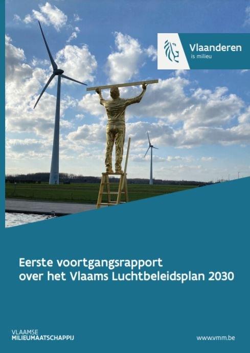 Cover Vlaams luchtbeleidsplan 2030 voortgangsrapport 2021