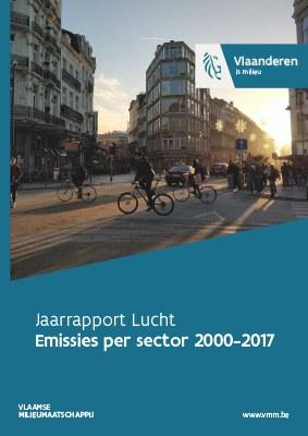 Cover jaarrapport lucht - deel 1 emissies pers sector 2000-2017