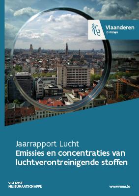 Cover jaarrapport lucht - deel 2 emissies en concentraties van luchtverontreinigende stoffen