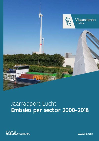 Cover jaarrapport lucht - emissies per sector 2000-2017
