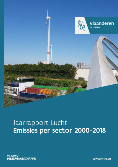 Cover jaarrapport lucht - emissies per sector 2000-2017