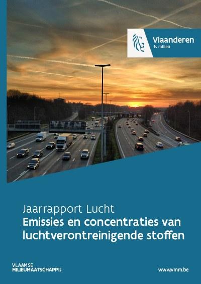 Cover jaarrapport lucht - emissies en concentraties luchtverontreinigende stoffen