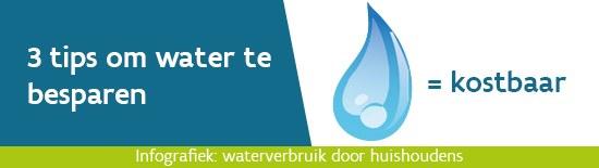 3 tips om water te besparen