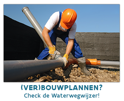 De Waterwegwijzer maakt je wegwijs in de wereld van watervriendelijk en doordacht (ver)bouwen.