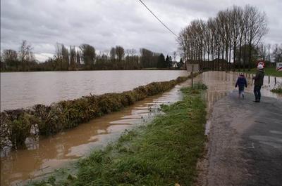 Foto overstroming van de Mark