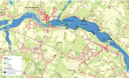 Overzichtskaart van het deelgebied Galmaarden