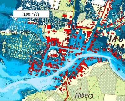 Overstromingen bij piekdebiet