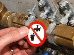 Pictogram niet drinkbaar water