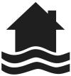 Symbool overstromingen