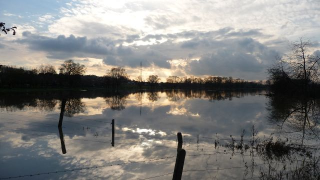 Bovengrondse overstroming