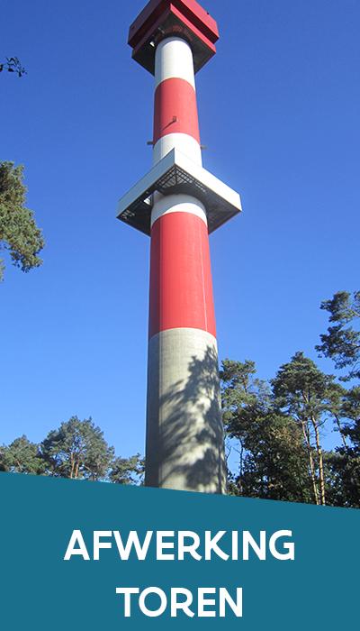 Afwerking van de toren