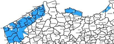 We vliegen in vier zones over verschillende gemeenten
