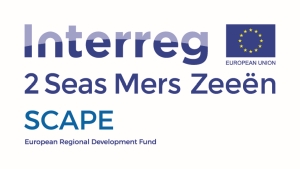 Combinatielogo project Scape en interreg 2 zeeën