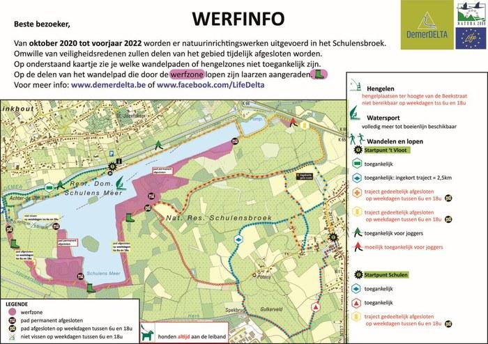 Vernieuwd infobord werken Schulensmeer september 2021