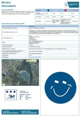 Elk jaar legt de VMM na een openbaar onderzoek de zwemwaterlocaties vast. Voor elke locatie wordt een profiel opgemaakt.
