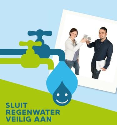 Sluit regenwater veilig aan - campagnebeeld
